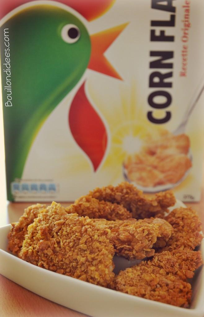 Nuggets sans gluten aux flocons de maïs ou Corn Flakes
