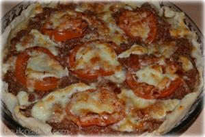 tarte tomates viande hachee mozza