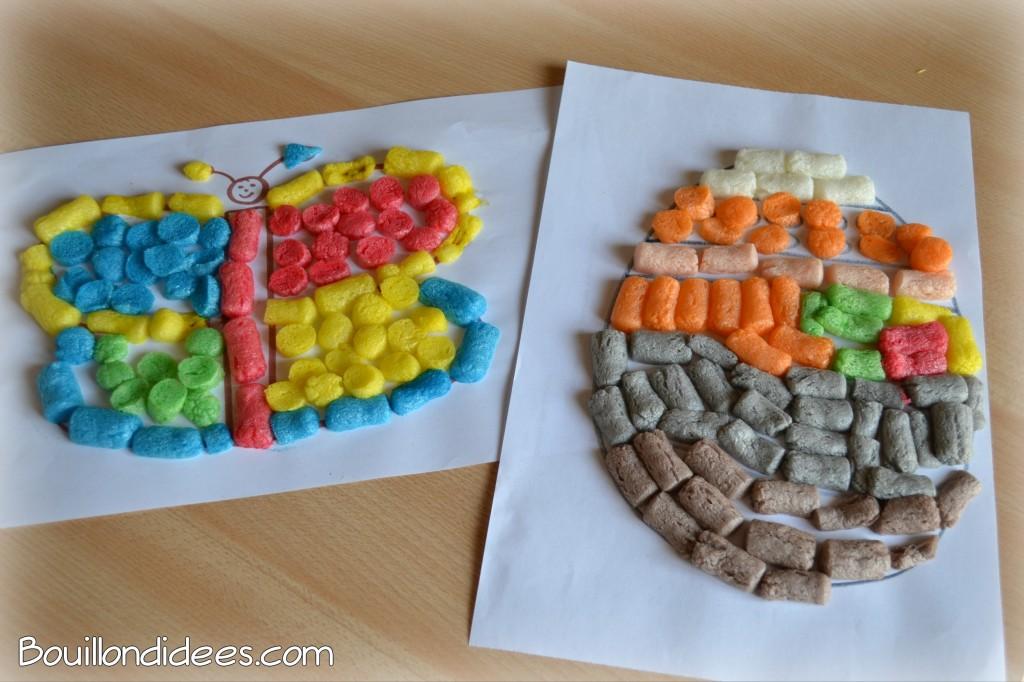 DIY bricolage Pâques :  oeuf décoré en Playmaïs