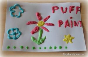 Puff paint peinture gonfle bouillondidees2 300x196 La Puff Paint, la peinture qui gonfle au micro ondes