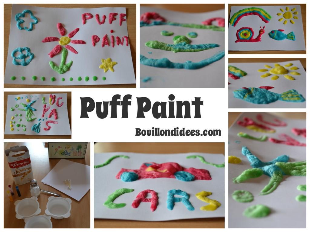12 activités à faire cet été avec les enfants : Jouer les artistes avec la Puff Paint (peinture gonfle micron-ondes)