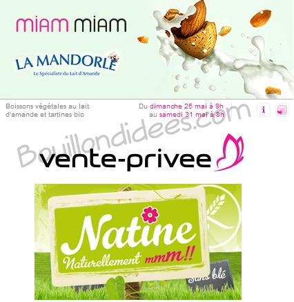 Vente priv e de produits sans gluten de la marque natine - Vente privee com avis consommateur ...