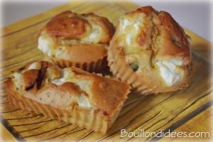 mini cake courgette et chèvre frais Bouillondidees
