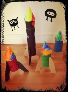 Fusées avec rouleaux papier toilette et sopalin