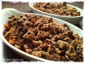 Crumble courgettes boeuf provençale sans GLO sans gluten Bouillondidees