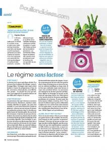 Femme actuelle 3 article régimes sans gluten, sans lactose Bouillon d'Idées