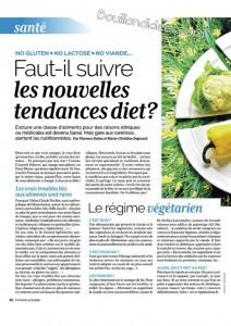 Femme actuelle article régimes sans gluten, sans lactose Bouillon d'Idées