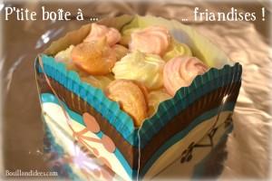 Panier petite boîte à friandises assiette en carton 1 Bouillondidees