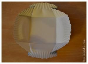 Panier petite boîte à friandises assiette en carton pliage Bouillondidees