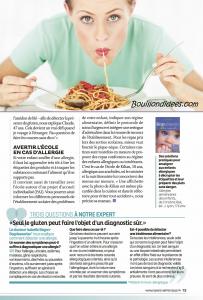 Santé Vie Pratique dossier intolérances alimentaires (gluten, lait, oeuf) 2 Bouillondidees