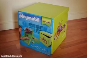 Boite rangement et jeu Playmobil Mynotedeco Bouillondidees