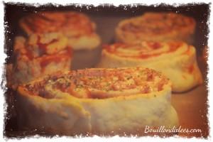 pizza rolls roulés sans GLO (gluten, lait, oeuf) four  Bouillondidees