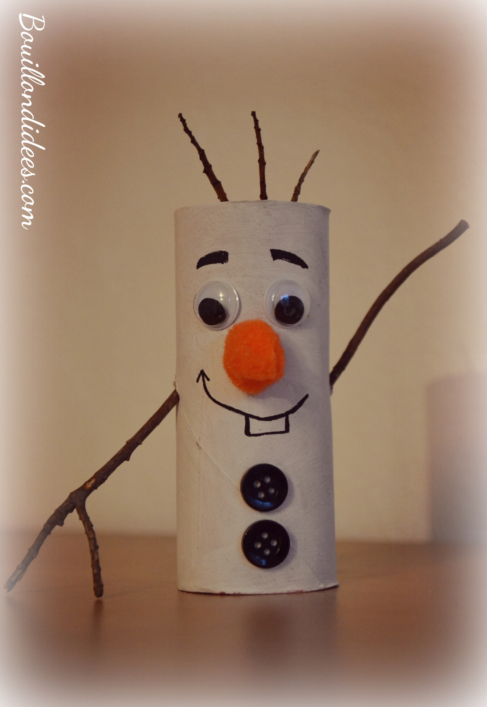 Diy sp cial no l sapin p re no l olaf le bonhomme de for Decoration de noel en rouleau papier toilette