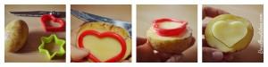 DIY Noël fabriquer tampons pomme de terre patate maison Bouillondidees