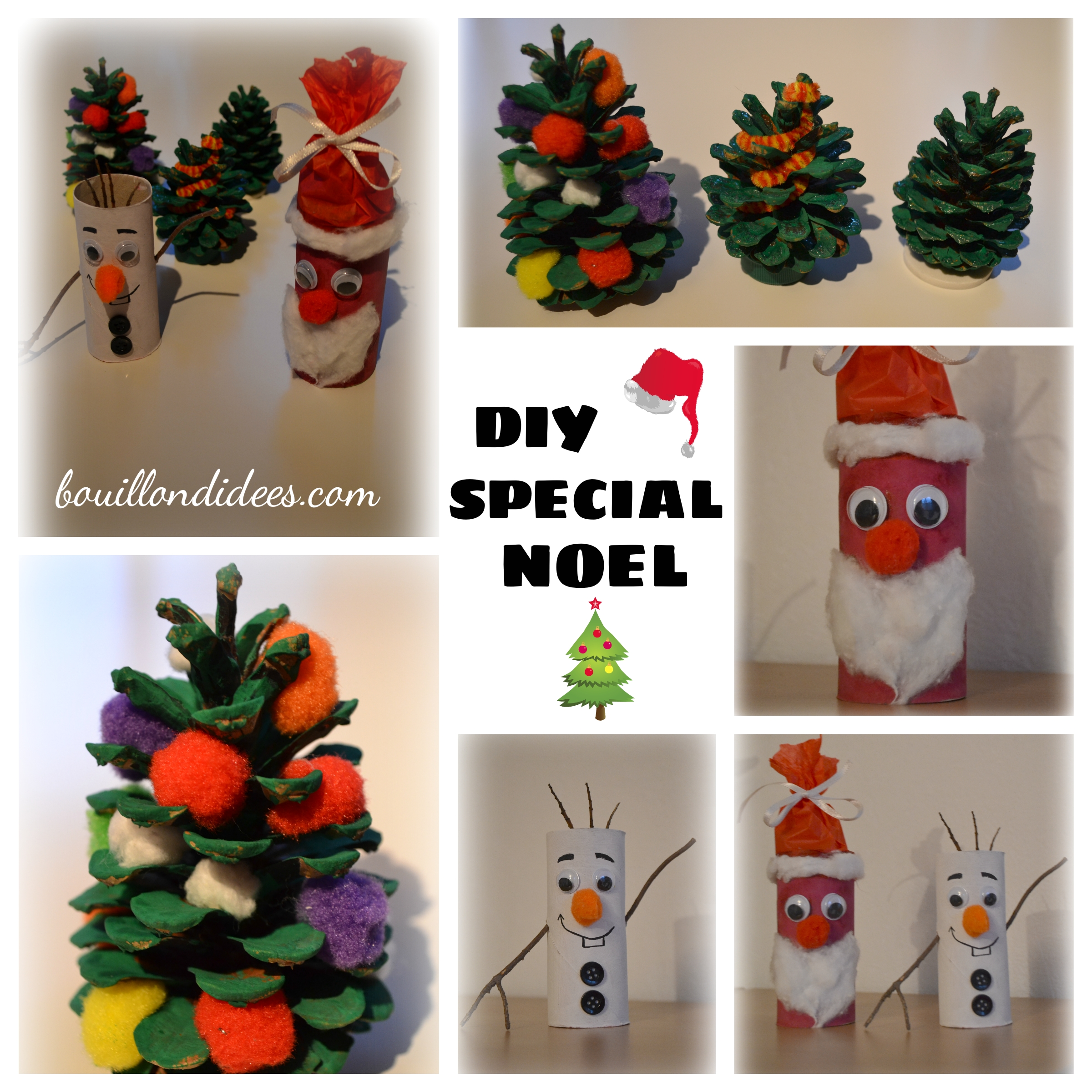 Diy sp cial no l sapin p re no l olaf le bonhomme de - Decoration de noel avec rouleau papier toilette ...