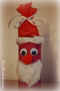 DIY Noël, père Noël en rouleau papier toilette Bouillondidees