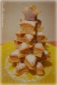 Génoise montée en étoiles sapin dessert pour Noël sans GLO (gluten, lait, oeuf) Bouillondidees