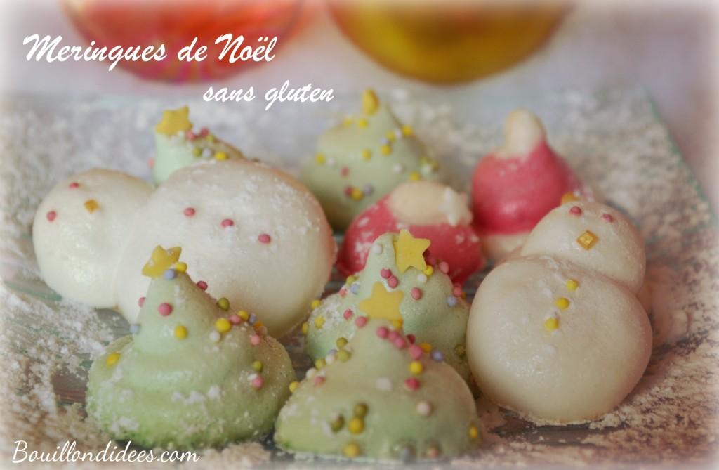 Meringues de Noël gourmandises sans gluten 2 Bouillondidees
