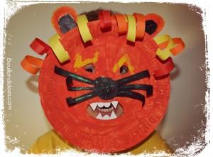 DIY Masque Lion enfant Carnaval fête avec assiette carton Bouillondidees