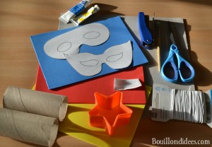 DIY Super Heros matériel Bouillondidees