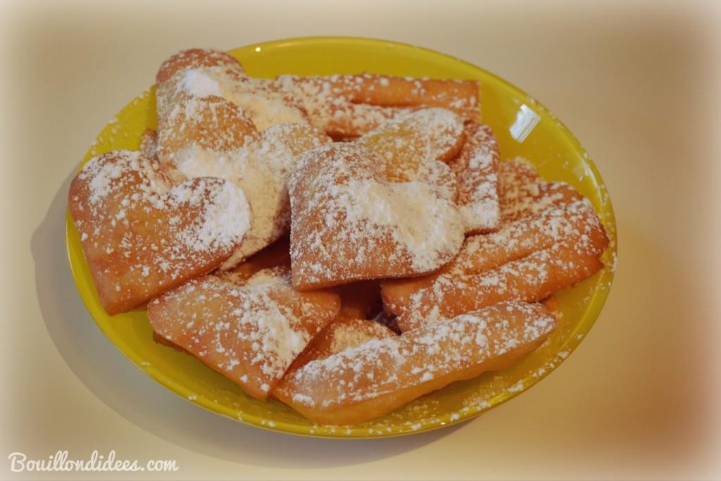 Bugnes sans GLO carnaval beignets sans GLO gluten lait oeuf Bouillondidees
