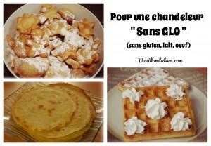 Chandeleur sans GLO (crepes, bugnes, gaufres sans gluten, lait, oeuf)