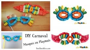 DIY Carnaval masques Playmais Bouillondidees