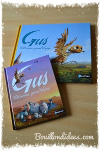Livre GUS petit oiseau, grand voyage Nathan film d'animation (coin lecture) grand & petit album Bouillondidees