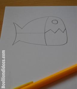 DIY 1er avril poisson mordant pince à linge dessin Bouillondidees