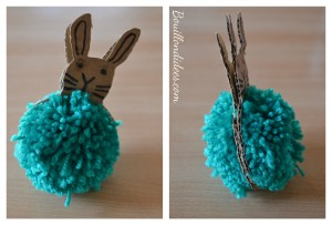 DIY Paques Lapin pompon Bouillondidees