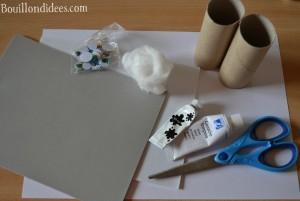 DIY Paques Lapins Lapin avec rouleau papier toilette tube papier matériel Bouillondidees