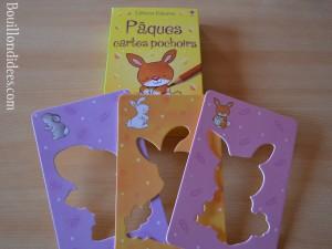 DIY Paques Lapins cartes pochoirs éditions Usborne Bouillondidees