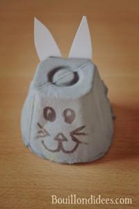 DIY Paques Lapins lapin avec, boîte à oeufs Bouillondidees