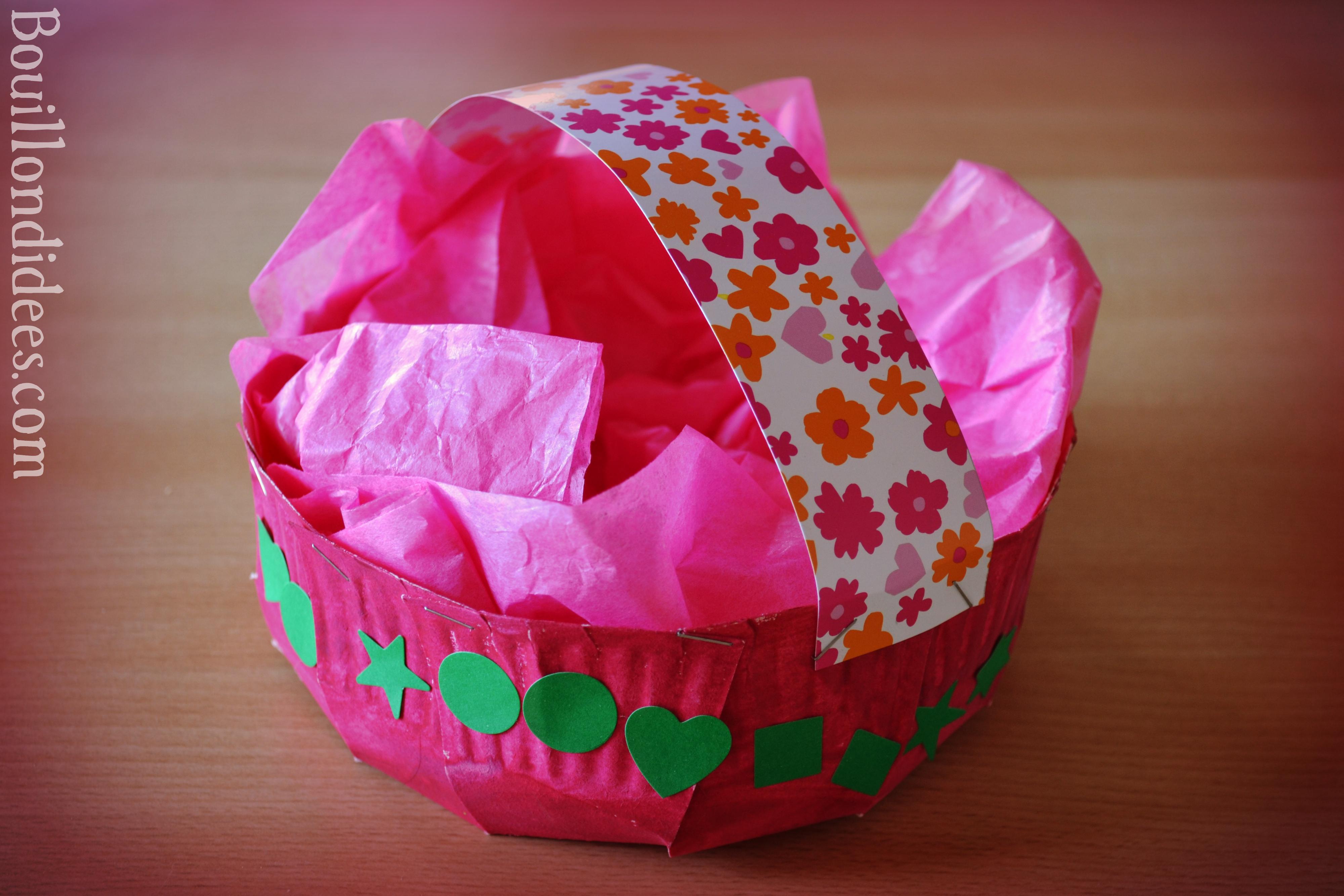 Fabriquer un panier avec une assiette en carton - Panier de paques a fabriquer ...