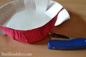 DIY Paques Panier  une assiette carton agrafe Bouillondidees