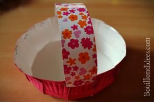 DIY Paques Panier  une assiette carton anse Bouillondidees