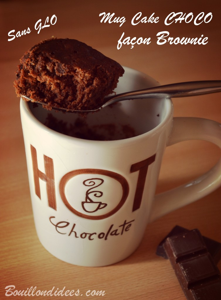 Mug Cake Avec Du Chocolat En Poudre Sans Sucre