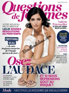 Question de Femmes magazine article sans gluten UNE