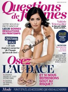 Question de Femmes magazine article sans gluten UNE