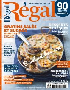 revue presse magazine Regal mars-avril 2015 sans gluten recettes UNE