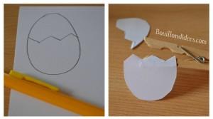 DIY Paques Poussin épingle pince à linge étape bricolage Bouillondidees
