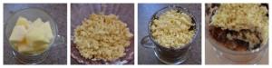 Mug crumble pomme vanille choco sans GLO (gluten, lait, oeuf) pas à pas Bouillondidees