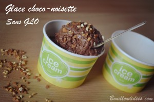Glace choco-noisette sans GLO, sans gluten, sans lait, sans blanc d'oeuf (lait noisettes) Bouillondidees