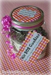 KIT Pot SOS Cookies cadeau fait maison maitresse fête des mères noël Bouillondidees