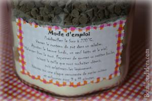 KIT Pot SOS Cookies cadeau fait maison maitresse fête des mères noël mode emploi Bouillondidees