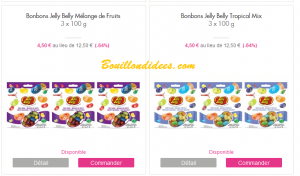 vente privée Showroomprivée bonbons Jelly Belly  sans GLO (gluten, lait, oeuf)