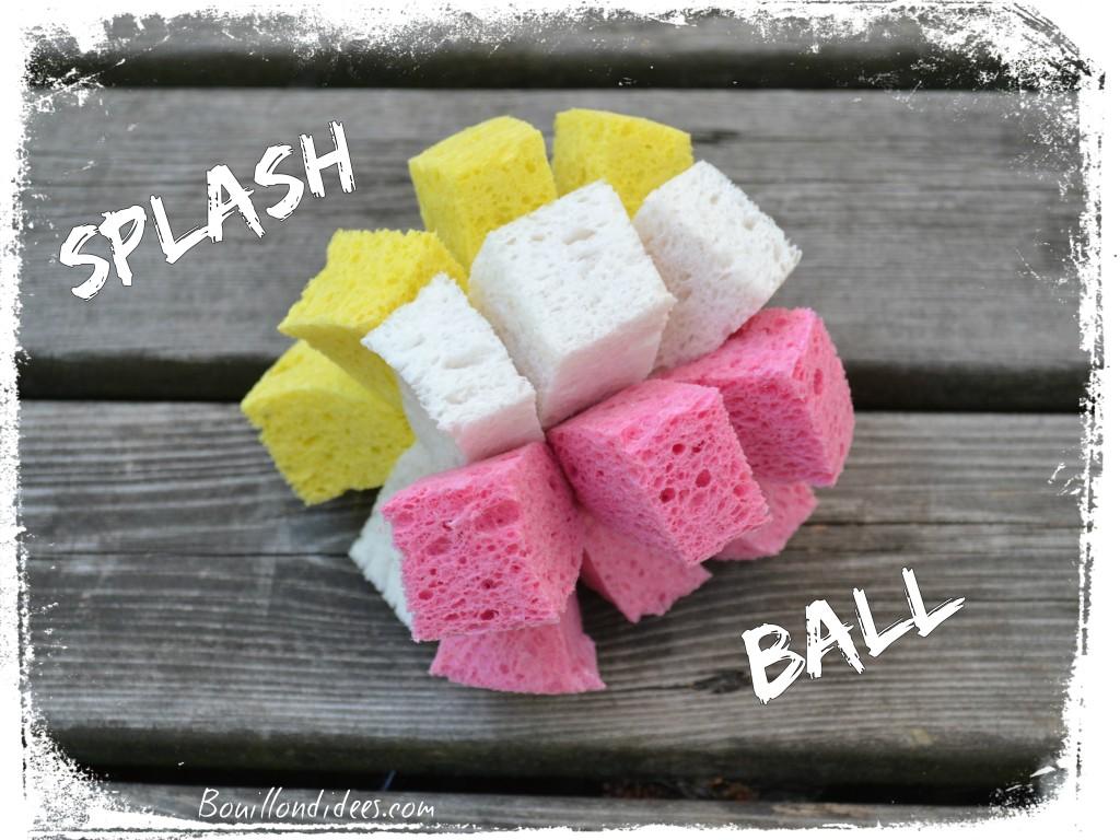 DIY bricolage enfant spécial été vacances extérieur Splash ball (balle éponge) jeu d'eau Bouillondidees