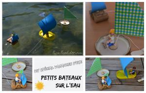DIY bricolage enfant spécial été vacances extérieur bateaux sur l'eau Bouillondidees