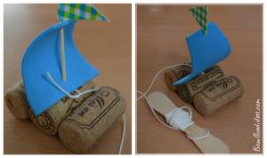 DIY bricolage enfant spécial été vacances extérieur bateaux sur l'eau (ficelle) Bouillondidees