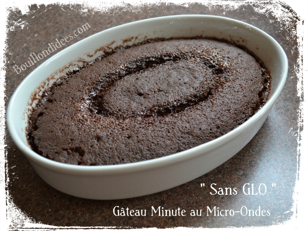 15 recettes sans gluten, sans lait (sans lactose ni PLV) et sans œuf (vegan) pour cet été : gâteau express sans GLO (sans gluten, sans lait et sans oeuf) au micro-ondes